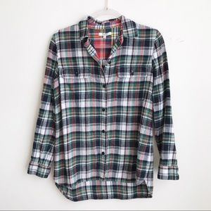Madewell Plaid Flannel Button Front Shirt